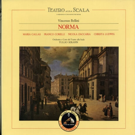 IT EMI 163-00535/37 カラス&セラフィン ベッリーニ・ノルマ(全曲)