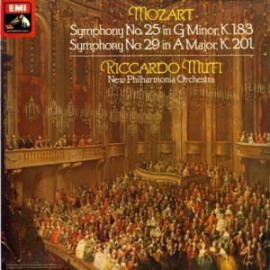 GB EMI ASD3326 ムーティ モーツァルト・交響曲25,29番